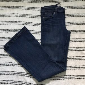 Banana Republic medium wash wide leg jeans